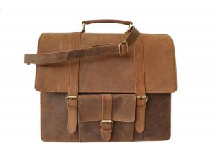 Retro Laptop Crazy Horse Genuine Leather Briefcases